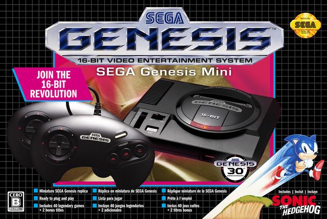 「メガドライブミニ」の兄弟機「Sega Genesis Mini」と「メガドライブミニ 3ボタンコントロールパッド」が9/9 12時より順次予約開始!