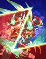 歴代6作品収録「ロックマン ゼロ&ゼクス ダブルヒーローコレクション」、中山徹の描きおろしイラストが予約開始!