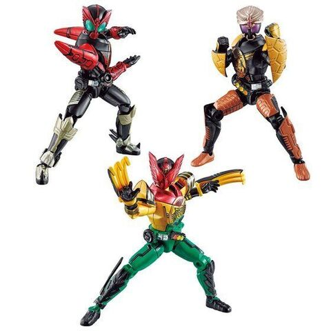 「SO-DO CHRONICLE 層動 仮面ライダーオーズ」に、劇場版で活躍した3体とオプションパーツがセットで登場!!