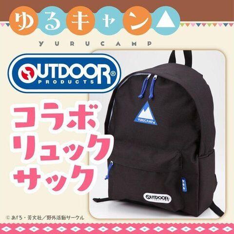 大人気キャンプアニメ「ゆるキャン△」と「OUTDOOR」のコラボリュック、サコッシュ、小物入れが登場!