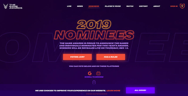 「The Game Awards 2019」受賞作発表! 最優秀作品「Game of the Year」は「SEKIRO: SHADOWS DIE TWICE」が選出