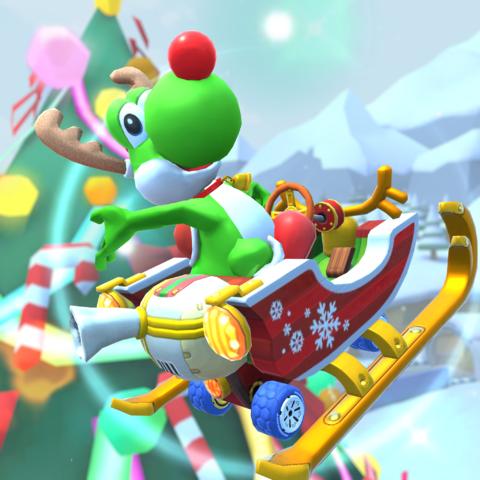 スマホ向けレースゲーム「マリオカート ツアー」で「2019 ファイナルツアー」が本日15時より開催中! トナカイ姿のヨッシーや、ドレスアップしたポリーンも登場