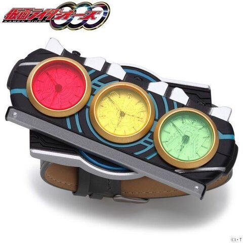 平成仮面ライダーシリーズ第12作目「仮面ライダーオーズ」の変身ベルト「オーズドライバー」を模した腕時計が登場!