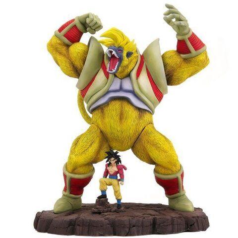 「ドラゴンボールGT」より、最終形態の大猿ベビーと超サイヤ人4孫悟空が、細部までこだわった大迫力の造形で立体化!