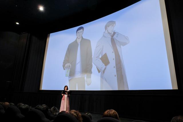 劇場アニメ「囀る鳥は羽ばたかない」、本日公開! 矢代と百目鬼が質問に生回答する趣向も行われた公開初日舞台挨拶レポート!