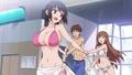 TVアニメ「おーばーふろぉ」 最終回・第8話の先行カットが公開! プールで琴音のビキニがはずれてしまい……!?