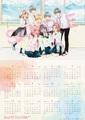 咲坂伊緒の青春漫画三部作「ふりふら」×「ストロボ・エッジ」「アオハライド」のコラボビジュアルを採用したカレンダーが劇場版「ふりふら」前売券特典に!