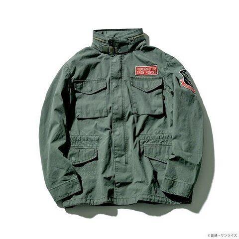 ミリタリージャケット永遠の定番「ALPHA M-65フィールドジャケット」に「機動戦士ガンダム」ジオン軍「ランバ・ラル隊」モデルが登場!