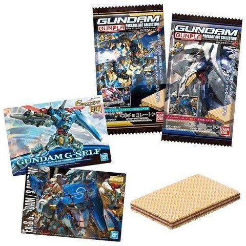 ガンプラの美麗パッケージアートをプラスチックカードに!「GUNDAMガンプラパッケージアートコレクション チョコウエハース」第5弾が登場
