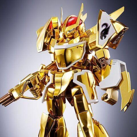 「蒼き流星SPTレイズナー」から、金色に輝く最強のSPT「ザカール」が「魂SPEC×HI-METAL R」に登場! 豪華金色メッキ仕様はザカール商品初!