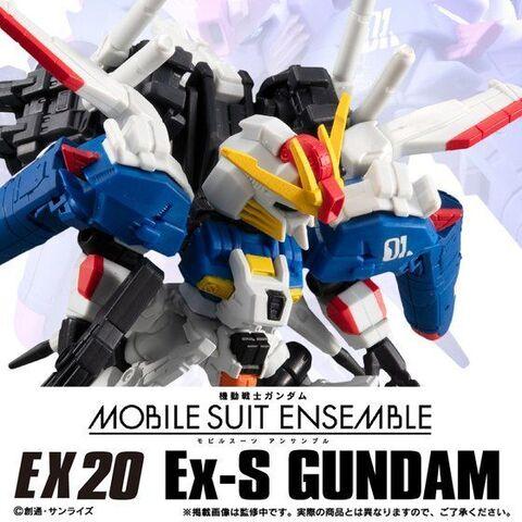 モビルスーツアンサンブルEX20弾に「Ex-Sガンダム」が登場! デフォルメながらアクションポーズも映える抜群のプロポーション!!