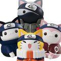 「NARUTO-ナルト-」の猫ソフビマスコット 「ニャルト!」に、ニャンともビッグなシリーズが全4種で登場!!