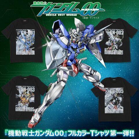 「機動戦士ガンダム00」、MSを大胆にプリントしたフルカラーTシャツが登場! 第1弾はエクシア、デュナメス、キュリオス、ヴァーチェ!!