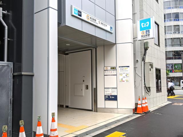 東京メトロ銀座線「末広町駅」の2番出口が、(仮称)末広町ビル1Fに新設! 旧2番出口は閉鎖