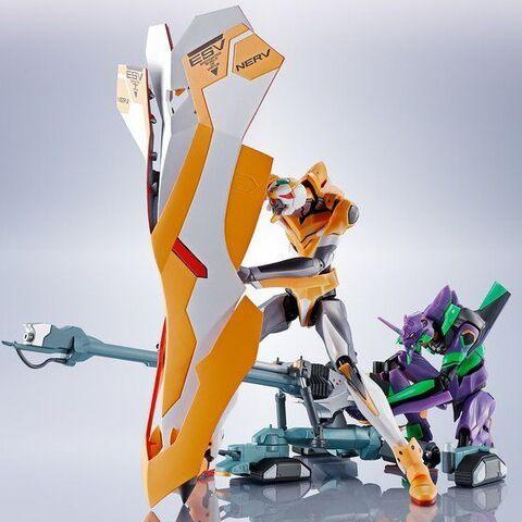 ROBOT魂<SIDE EVA>に、「ヱヴァンゲリオン新劇場版:序」のクライマックスを飾るヤシマ作戦を再現できるパーツセットが登場!