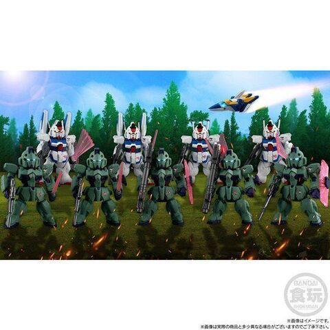 「機動戦士Vガンダム」に登場し、リガ・ミリティアを勝利に導いたシュラク隊が全機セットでFW GUNDAM CONVERGE:COREに登場!