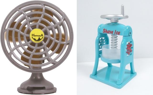 猛暑に負けるな! 今月は清涼感あふれる「扇風機」と「かき氷機」のカプセルトイを紹介!【ワッキー貝山の最新ガチャ探訪 第43回】