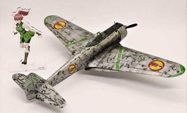 映画「荒野のコトブキ飛行隊 完全版」公開記念! ハセガワ1/48 「一式戦闘機 隼 一型 レオナ機 仕様」を劇中のイメージをふくらませて作ってみた!