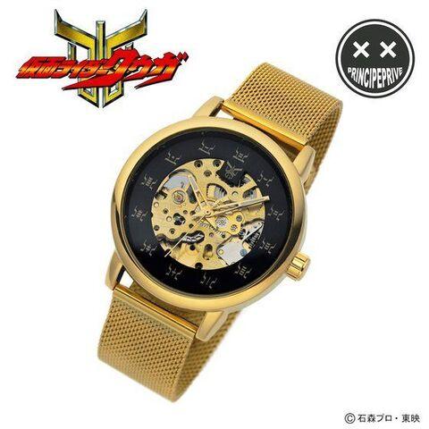 「仮面ライダークウガ」と機械式腕時計の「PRINCIPE Watches(プリンチペウォッチ)」がコラボしたスケルトンウォッチが登場!!