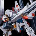 「重戦機エルガイム」より、「エルガイムMk-II」が完全新規造形でHGシリーズで登場! 各種武装と、プローラー形態への変形を精密に再現