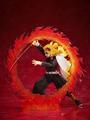 """「劇場版『鬼滅の刃』 無限列車編」より""""煉獄杏寿郎""""アクションフィギュアが登場! 「炎の呼吸」をイメージした大ボリュームのエフェクトパーツが付属"""