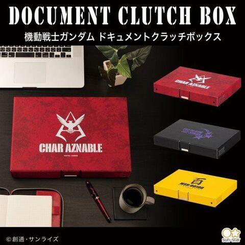「機動戦士ガンダム」、シャア・アズナブル、黒い三連星、百式をイメージしたドキュメントクラッチボックスが登場!