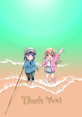 釣り糸でつながるガールズストーリー「スローループ」がTVアニメ化決定! 記念イラストも到着!
