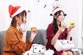 クリスマスイブイブに原奈津子&小見川千明が、スイーツをめぐってガチンコ勝負!! 公式番組「集まるんですの!邪神の星」第5回レポート