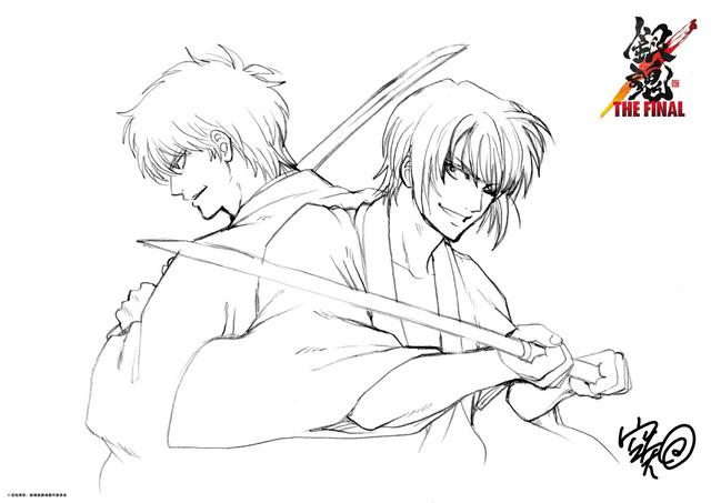 「銀魂 THE FINAL」第三週目(1月22日~)入場者プレゼント、銀さんと高杉の胸アツビジュアルが解禁!