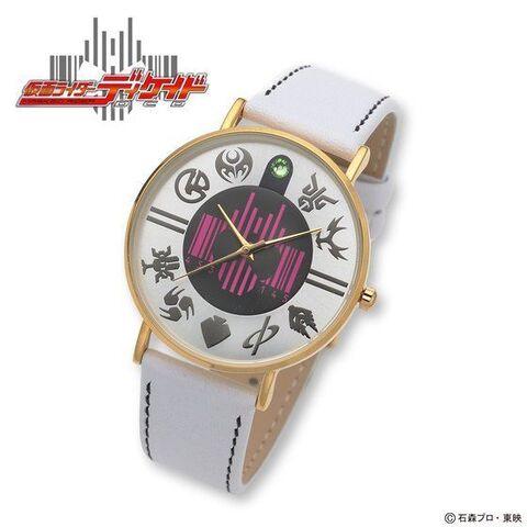「仮面ライダーディケイド」のレディース腕時計が登場! 中央には、ディケイドマークがプリント!!