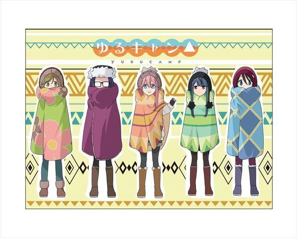 「ゆるキャン△」よりケース入りポンチョ、カイロケース、除菌パッドが新発売!