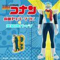 「名探偵コナン」少年探偵団の憧れのヒーロー「仮面ヤイバー」がソフビで立体化! 豪華ダイキャストの探偵団バッジとセットで登場!!