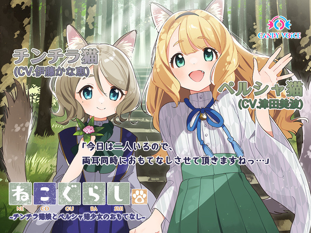 ASMR音声作品「ねこぐらし。」、第5弾は伊藤かな恵&津田美波のコラボで本日配信!