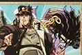 「ジョジョの奇妙な冒険」の切絵が登場! 「空条承太郎」「DIO」「東方仗助」がトラディショナルで極彩色豊かな切絵に!