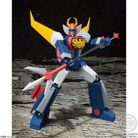 日本サンライズ制作のロボットアニメ「無敵ロボ トライダーG7」がスーパーミニプラに登場! バード・アタック用の胸パーツも付属!!