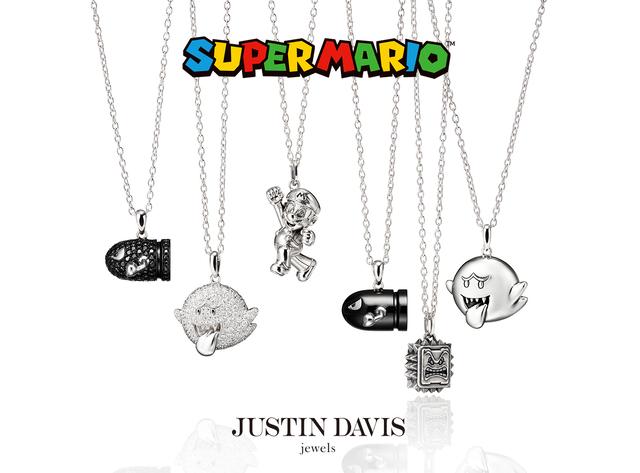 スーパーマリオ、テレサ、キラー、ドッスンがジャスティン デイビスのジュエリーに登場! 8月8日(日)、予約販売スタート!!