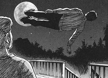 モッシュが月にドロップキック