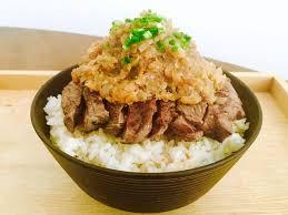 シャリアピンステーキ梅風味丼