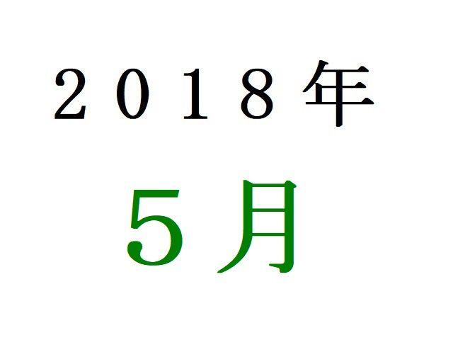 18年5月春アニメ人気投票