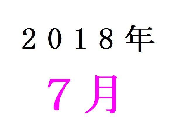 18年7月夏アニメ人気投票