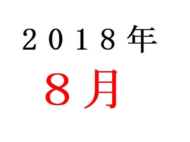 18年8月夏アニメ人気投票