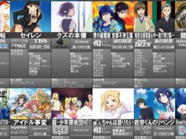 2年前!2017年冬アニメ人気投票