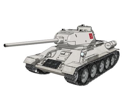 【プラウダ】T-34/85