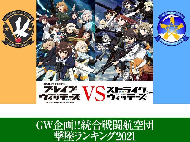 GW企画!!。統合戦闘航空団撃墜ランキング2021