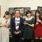 オリジナルアニメ「ロボットガールズZ」、声優3名がダイナミックプロを表敬訪問!  永井豪:「まるで孫ができたような感じ」