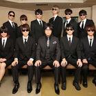 物語にちなんだ「黒服」姿で11名が勢揃い! TVアニメ「中間管理録トネガワ」記者会見レポート!