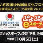 「全国都道府県対抗eスポーツ選手権 2019 IBARAKI」「ぷよぷよeスポーツ」本戦の模様をインターネットでライブ配信決定!