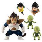 「DRAGONBALL ADVERGE MOTION5」は、大猿ベジータ、孫悟飯、ヤジロベー、栽培マンが2体セットになって登場!