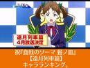 祝『食戟のソーマ 餐ノ皿 遠月列車篇』キャラランキング。